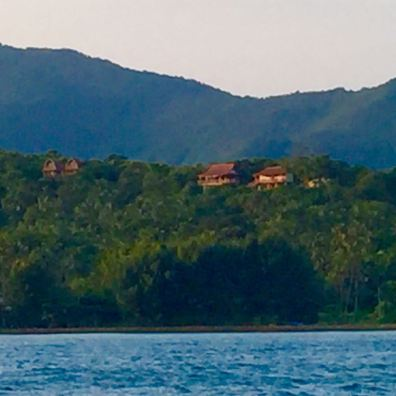 cocohuts from the boat